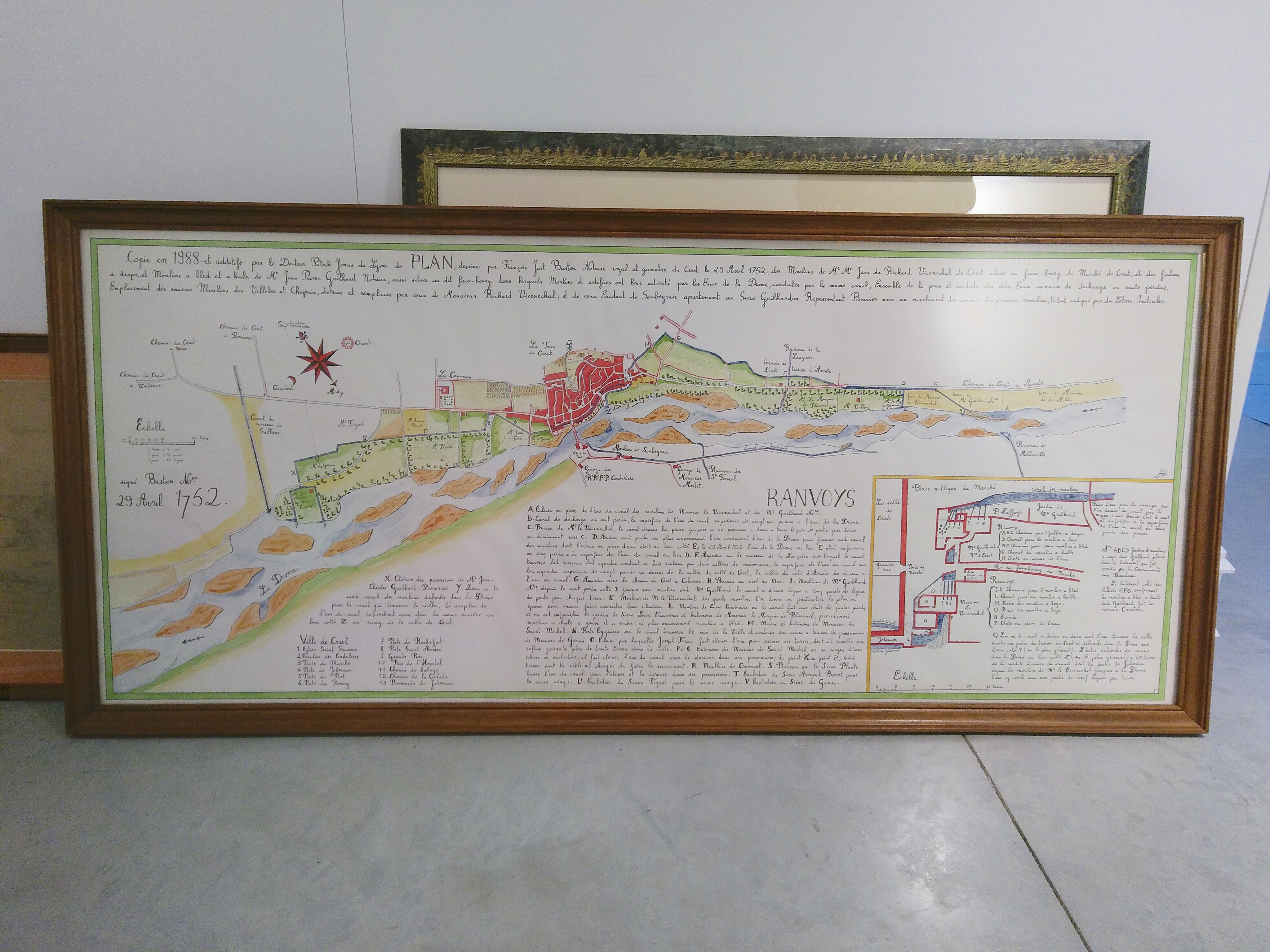 Plans des canaux de Crest